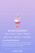 Happiny Pokedex