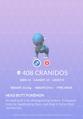 Cranidos Pokedex