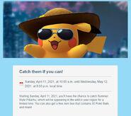 Summer Hat Pikachu 2021
