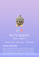 Seedot Pokedex