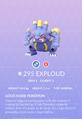 Exploud Pokedex