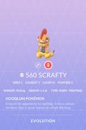 Scrafty Pokedex