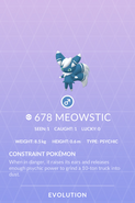 Meowstic Pokedex