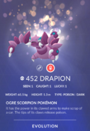 Drapion Pokedex
