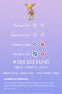 Deerling Winter Pokedex