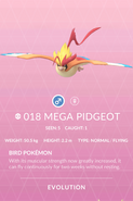 Pidgeot Mega Pokedex