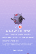 Whirlipede Pokedex