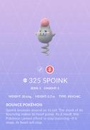 Spoink Pokedex