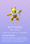 Hypno Pokedex