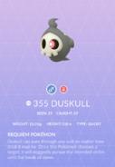 Duskull Pokedex