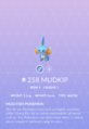 Mudkip Pokedex