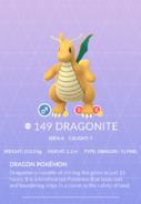 Dragonite Pokedex