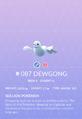 Dewgong Pokedex