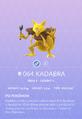 Kadabra Pokedex