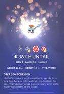 Huntail Pokedex