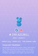 Azurill Pokedex