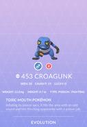 Croagunk Pokedex