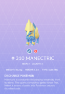 Manectric Pokedex