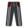 Pants F Grey Stripe Red