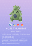 Tyranitar Pokedex