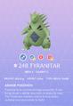 Tyranitar Pokedex