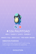 Palpitoad Pokedex