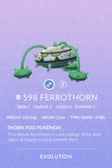 Ferrothorn Pokedex