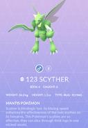 Scyther Pokedex