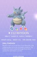 Rhydon Pokedex