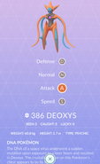Deoxys Attack Pokedex