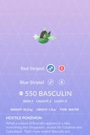 Basculin Pokedex