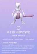 Mewtwo Pokedex