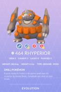 Rhyperior Pokedex