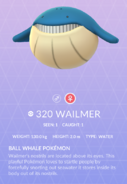 Wailmer Pokedex