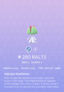 Ralts Pokedex