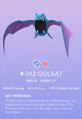 Golbat Pokedex