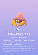 Parasect Pokedex