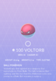 Voltorb Pokedex