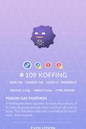 Koffing Pokedex