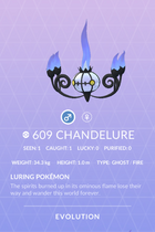 Chandelure Pokedex