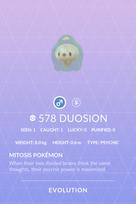 Duosion Pokedex
