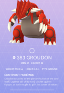 Groudon Pokedex
