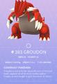 Groudon Pokedex