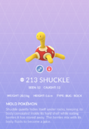 Shuckle Pokedex