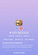 Bidoof Pokedex