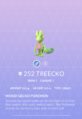 Treecko Pokedex
