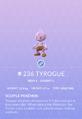Tyrogue Pokedex