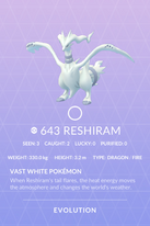 Reshiram Pokedex