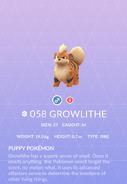 Growlithe Pokedex
