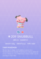 Snubbull Pokedex